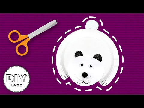 POLAR BEAR  Winter Paper Plate Craft | Fast-n-Easy | DIY Arts & Crafts for Parents