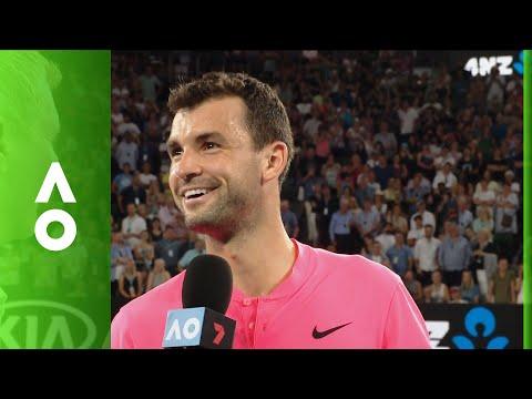 Grigor Dimitrov on court interview (4R) | Australian Open 2018