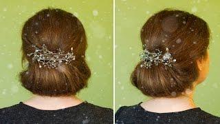 Прически на каждый день на средние, длинные волосы своими руками | Зачіска на кожен день