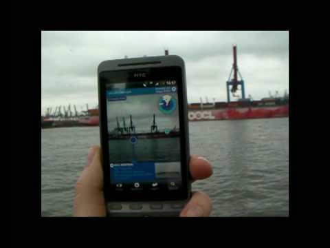 Layar + Vesseltracker.com On Android HTC Hero