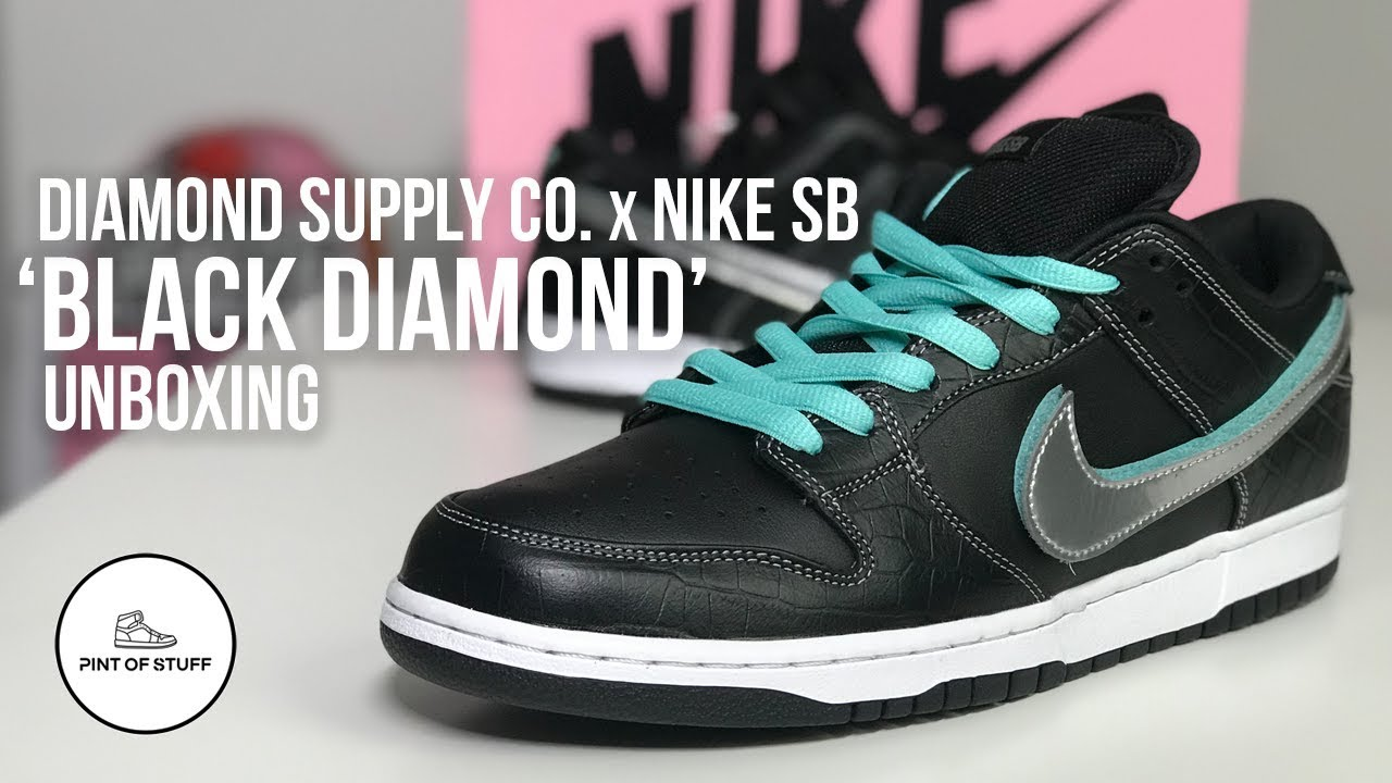 new style 97954 a3057 Nike SB 'Black Diamond' OG QS Dunk Low Sneaker Unboxing