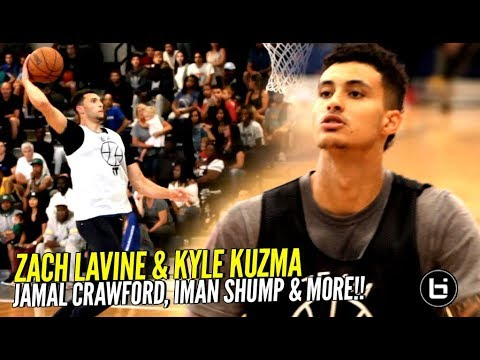 Kyle Kuzma & Zach LaVine CRAZY SHOW At Isaiah Thomas' ZEKE END!! Jamal Crawford & More!!