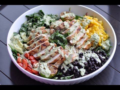 Clean Eats - Family Burrito Bowl w/avocado cilantro dressing