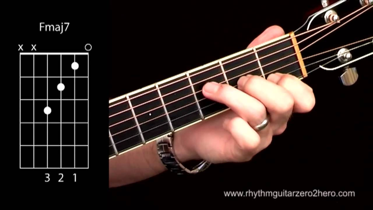 Acoustic Guitar Chords Learn To Play F Major 7 Youtube