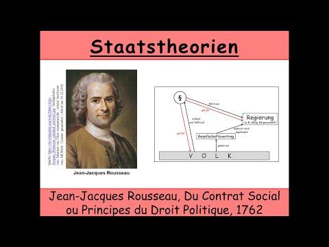 Staatstheorie von Rousseau Du Contrat Social Gesellschaftsvertrag  Französische Revolution
