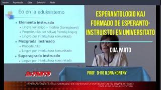 ESPERANTOLOGIO KAJ FORMADO DE ESPERANTO-INSTRUISTOJ EN UNIVERSITATO –  DUA PARTO