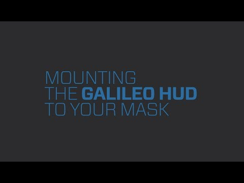 Galileo HUD | 2.2 Mounting the SCUBAPRO Galileo HUD Handsfree Dive Computer to your mask