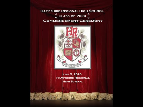 Hampshire Regional High School Class of 2020 Commencement