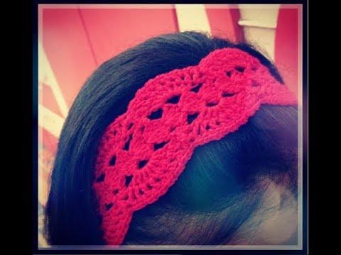 طريقة عمل سورتيت كروشيه How To Crochet A Headband Youtube