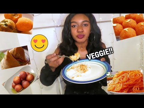 TASTING VEGETARIAN INDIAN FOOD FOR THE FIRST TIME!!😍 🇮🇳