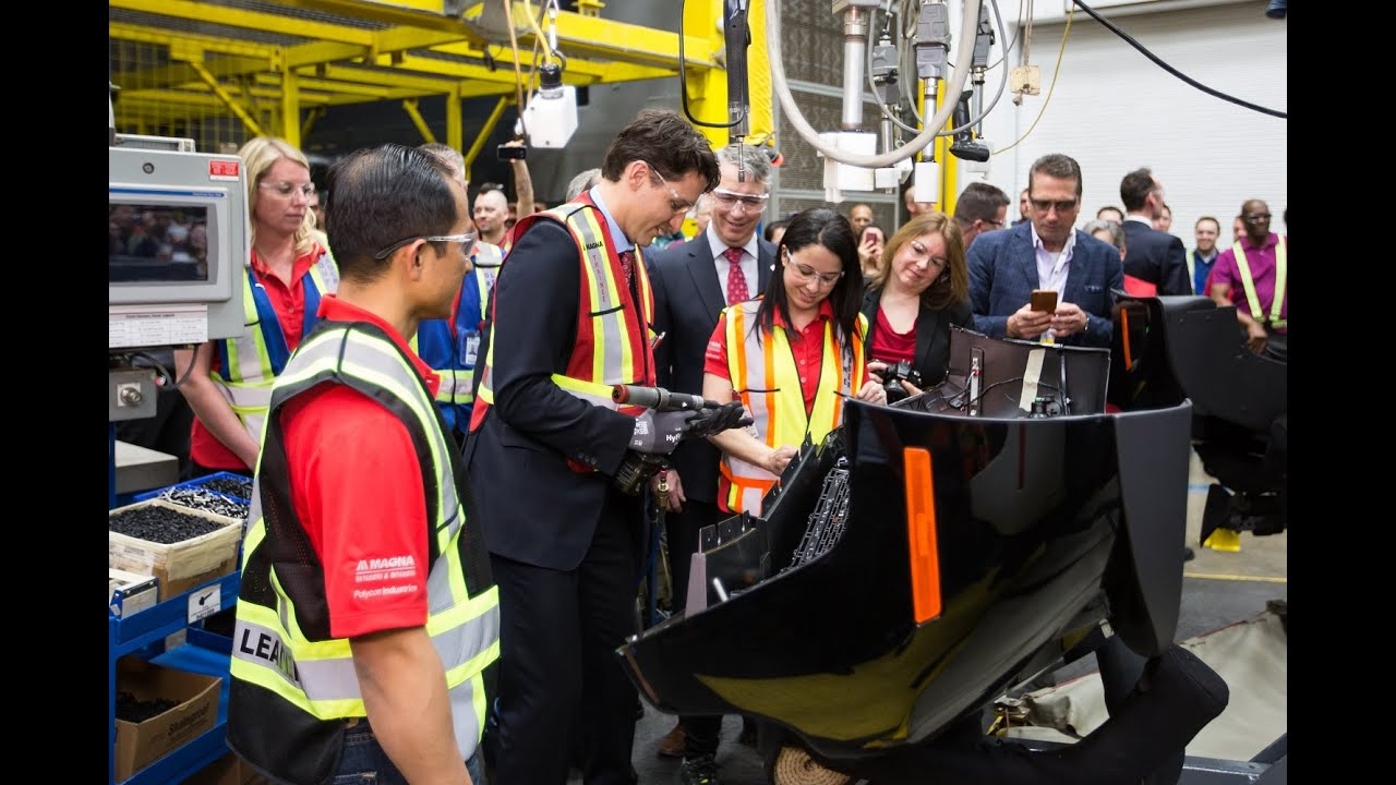 Prime Minister Trudeau at Magna Polycon in Guelph