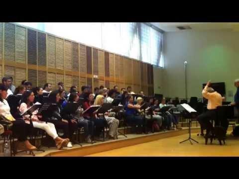 Coro Intermezzo. Ensayo La Fille Du Regiment (4)