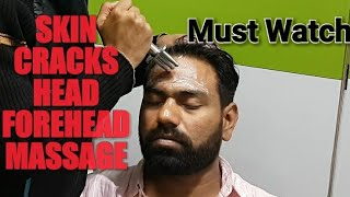 Asmr Skin cracking head & Forehead massage with neck and ear cracks.