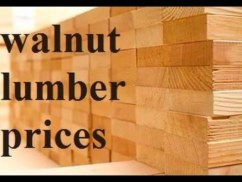 Walnut lumber prices