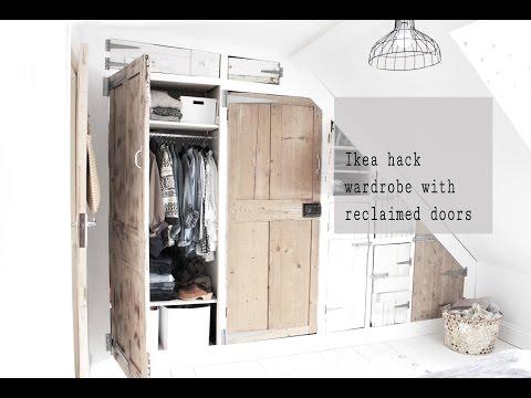 Ikea Ivar hack wardrobe build with reclaimed doors, part 2 - YouTube