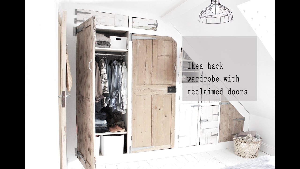 Ikea Ivar Hack Wardrobe Build With Reclaimed Doors Part 2