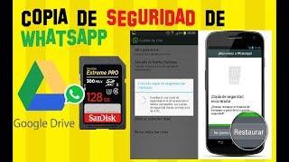 Cómo crear una Copia de Seguridad en Whatsapp en DRIVE  o sin Internet en la SD