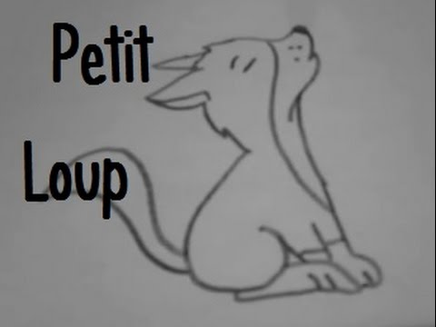 Dessiner un petit loup youtube - Dessin de loup simple ...