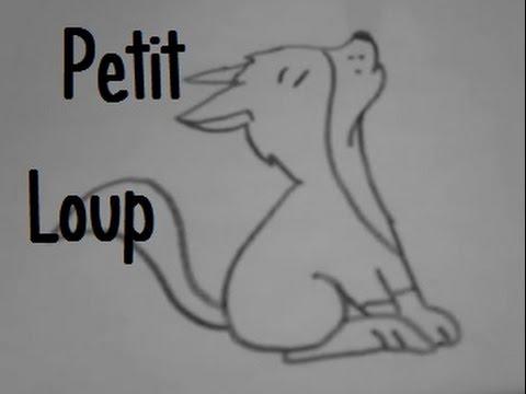 Dessiner un petit loup youtube - Image loup dessin ...
