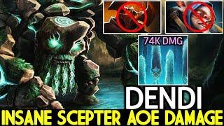 DENDI [Tiny] Insane Scepter AOE Damage Against Meepo Mid 7.22 Dota 2