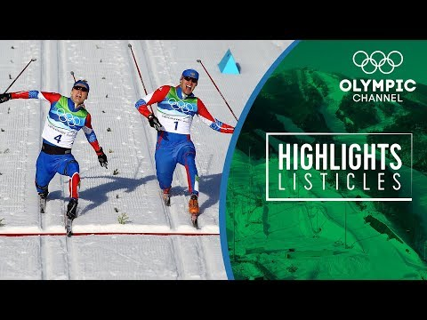 The 5 most epic finishes in Olympic Cross Country Skiing | Highlights Listicles