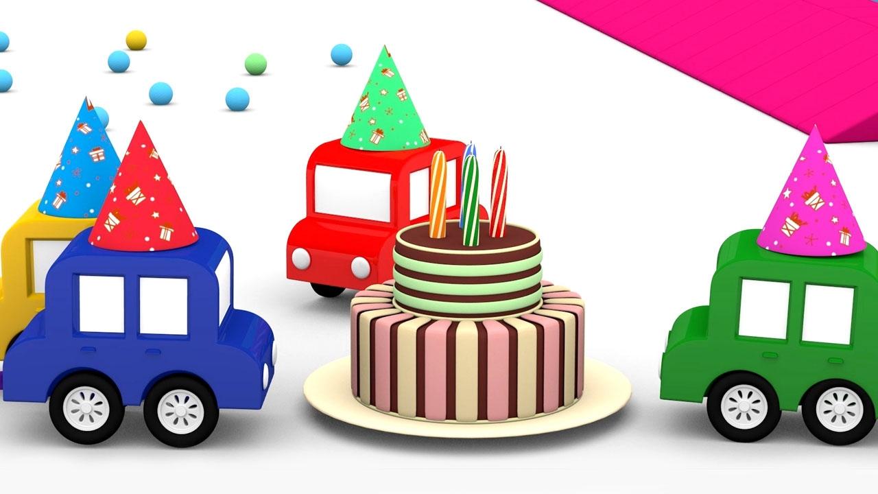 Le macchinine colorate festeggiano il compleanno chi