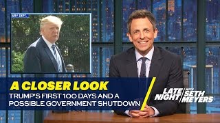 Trump's First 100 Days and a Possible Government Shutdown: A Closer Look by : Late Night with Seth Meyers