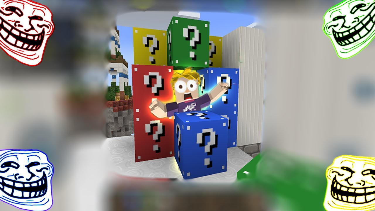 UNLUCKY NOOB vs MASTER PRO - FUNNIEST MOMENTS In Lucky Block Skywars | Blockman Go Gameplay
