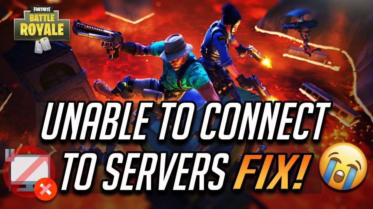 fix fortnite unable to connect to servers fix season 8 - login failed fortnite pc