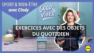 SPORT ?️♀️ | Exercices de sport avec des objets du quotidien avec Cindy | Lidl France