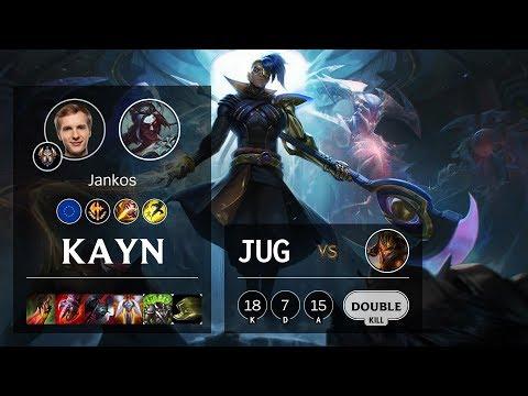 Kayn Jungle vs Jarvan IV - EUW Challenger Patch 10.6