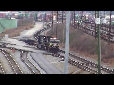 NORFOLK SOUTHERN TRAINS SHOT IN ATLANTA,GA. AT NS INMAN YARD DECEMBER 2016 PART#4