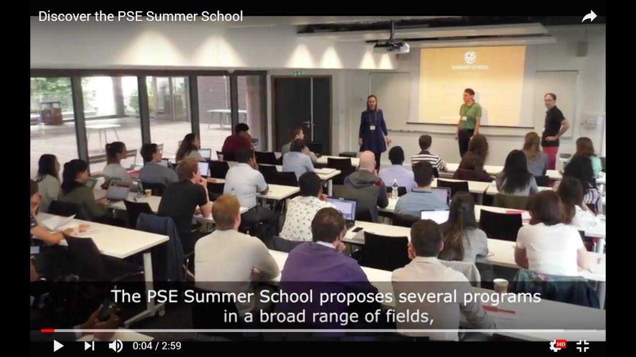 PSE Summer School - Paris School of Economics