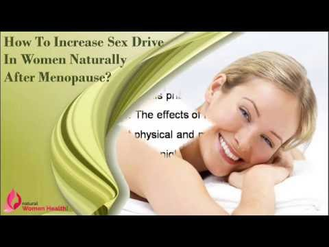 Will sex drive increase after menapause