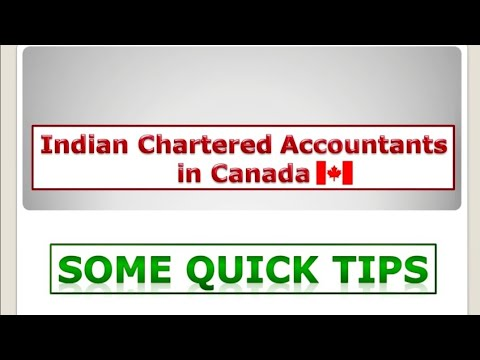 Indian Chartered Accountants In Canada - Scope & Few Tips - Vdeshitadka2019
