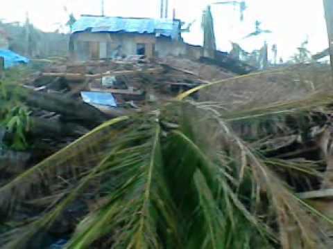 After typhoon yolanda Landed in Inapulangan Eastern Samar