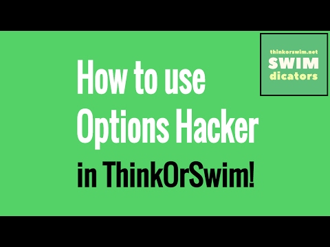 ThinkOrSwim Tutorial: Scanning with Options Hacker
