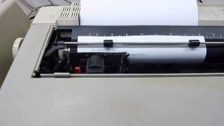 1984 Vintage JUKI 6100 Daisy Wheel Printer demo from an HP 85A