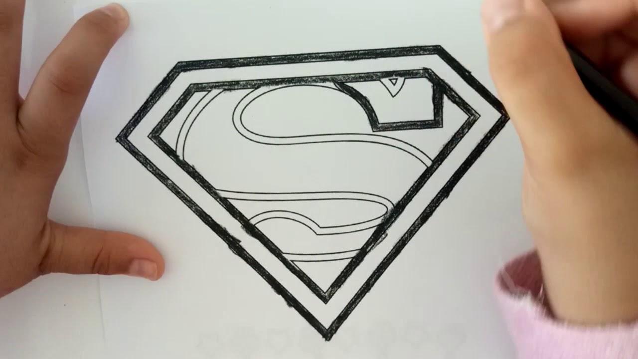Kahramanlar Boyama Serisi Superman Logosu Boyama Oyunu Youtube