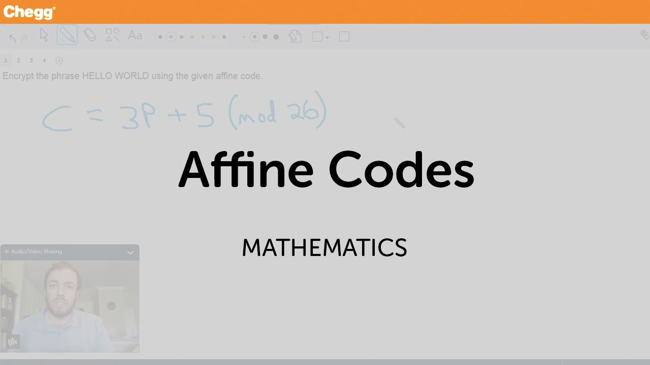 Affine Codes | Math | Chegg Tutors