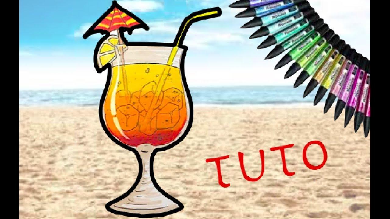 Comment dessiner un cocktail tuto youtube - Dessin cocktail ...