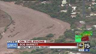 Central Arizona Project: Flood waters flowing into CAP system, down-stream residents warned
