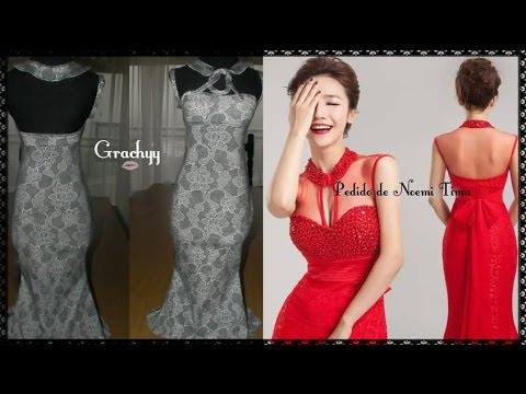 Como hacer vestido de fiesta con transparencias
