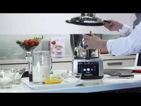 Recette crème anglaise   cook expert magimix   habiague.com   youtube