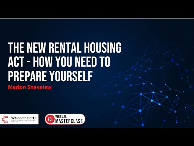 The new Rental Housing Act | How you need to prepare yourself