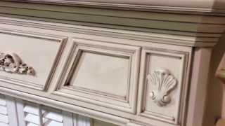 The New England Mantel With Antique Glaze Finish - Custom Fireplace Mantel