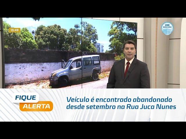 Veículo é encontrado abandonado desde setembro na Rua Juca Nunes, no Jaraguá