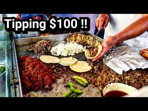 Tipping Taco Stand $100 in Mexico