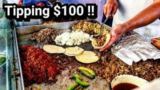 TIPPING $100 Dollars - MEXICAN Street Tacos - MONEY Sent From SUBSCRIBERS!!!
