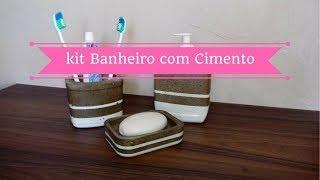 KIT PARA O BANHEIRO FEITO COM CIMENTO   Carla Oliveira